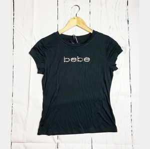 Bebe | Black tee with rhinestones